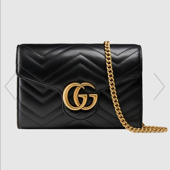 9a8188d46ce Gucci Handbags - Authentic Gucci marmont wallet on a chain mini